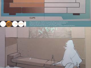 CLIPS - poltrona, divano, panca : Soggiorno in stile in stile Mediterraneo di Studio Arkilab - Seby Costanzo