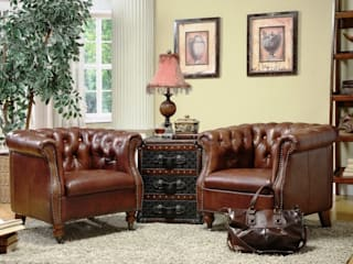 Chesterfield Inspired Leather Armchair : classic  by Locus Habitat,Classic