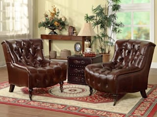 Chesterfield Inspired Leather Armchair Locus Habitat Living roomSofas & armchairs