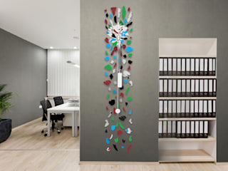Pendules personnalisables Wall2time par Jerome Elie Moderne