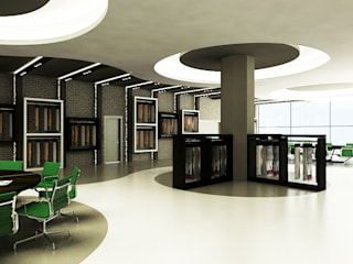 Locaux commerciaux & Magasins de style  par Niyazi Özçakar İç Mimarlık, Moderne