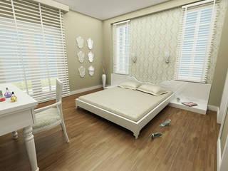 Dormitorios de estilo ecléctico de Niyazi Özçakar İç Mimarlık Ecléctico