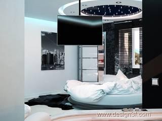 Chambre moderne par студия Design3F Moderne
