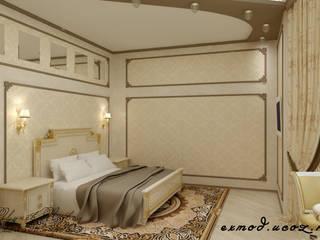 Спальня в классическом стиле: Спальни в . Автор – Цунёв_Дизайн. Студия интерьерных решений.