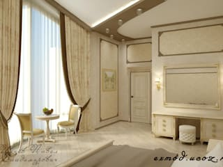 Спальня в классическом стиле Спальня в классическом стиле от Цунёв_Дизайн. Студия интерьерных решений. Классический
