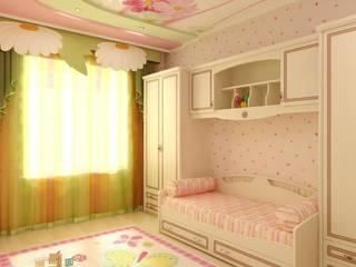 Детская в частном доме: Спальни в . Автор – Цунёв_Дизайн. Студия интерьерных решений.
