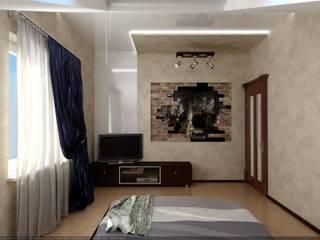 Спальня мансардная: Спальни в . Автор – Цунёв_Дизайн. Студия интерьерных решений.