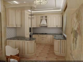 Частный дом г. Невинномысск. гостиная Кухня в классическом стиле от Цунёв_Дизайн. Студия интерьерных решений. Классический