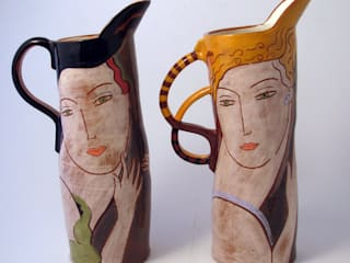 ILLUSTRATED VESSELS: modern  by Michael Kay; Ceramic Artist, Modern