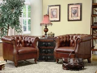 Vintage Style Chesterfield Armchair Locus Habitat Living roomSofas & armchairs