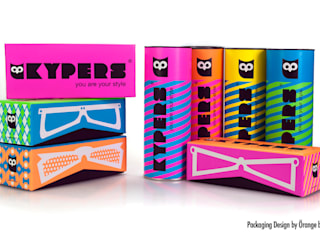 Packs para gafas de sol Kypers, presentación en caja forrada y tubo. de Orange BCN Moderno