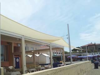 Metti un albero in terrazza Bar & Club moderni di VIVERE IL FUORI Moderno