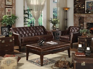 Why Full-grain Leather is Best Choice for Sofa Locus Habitat Living roomSofas & armchairs