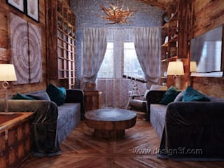 Eclectic style study/office by студия Design3F Eclectic
