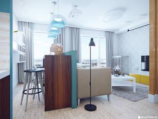 "Трехкомнатная квартира в ЖК ""Акварели"", г. Балашиха:  в . Автор – Студия 'perspective'"