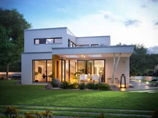 Büdenbender Ausstellungshaus Valentino in der Fertighauswelt Wuppertal:  Häuser von Büdenbender Hausbau GmbH