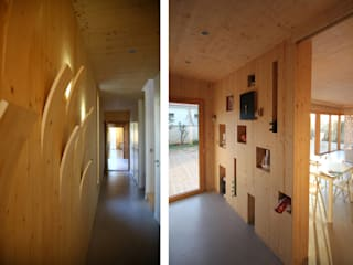 Modern Corridor, Hallway and Staircase by TICA Modern