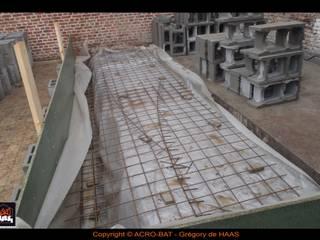 Construction ossature bois / Annexe , bardage etercolor et moellons par ACRO-BAT / Grégory de HAAS
