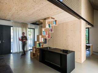 Compact Karst House:  Living room by dekleva gregorič arhitekti