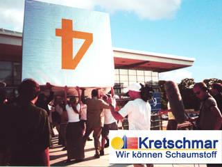 Oficinas y tiendas de estilo moderno de Kretschmar GmbH Schaumstoff Design Zuschnitte & Möbel Moderno
