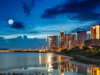 Macau: asian Bathroom by Michael Gurney