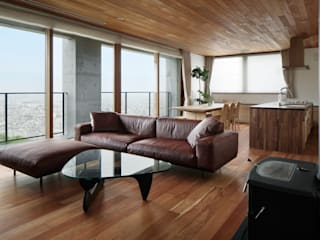 atelier137 ARCHITECTURAL DESIGN OFFICE Living room Wood Brown
