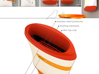 Slim toaster Studio MU•CA MutfakElektronik Ürünler