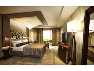 Hotel Roomsets by IDP Interior Design: eclectic  by IDP Design, Eclectic