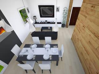 Open space : Soggiorno in stile in stile Moderno di aLL - servizi di architettura