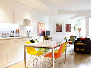 Hampstead Heath Apartment Eclectic style houses by Bhavin Taylor Design Eclectic