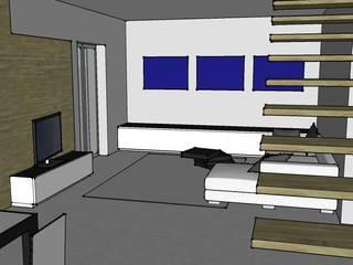 Bozze 3D sala:  in stile  di aLL - servizi di architettura