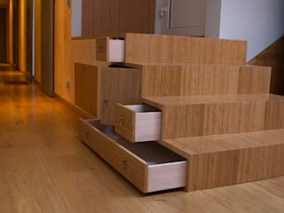 Carpe-diem Couloir, entrée, escaliers modernes par Ulrik Nolland Moderne