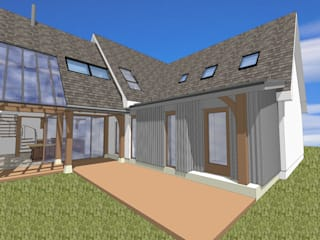 House Extension Oak Frame:   by Architects Scotland Ltd