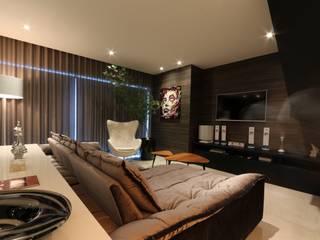 Minimalist living room by ZAAV Arquitetura Minimalist
