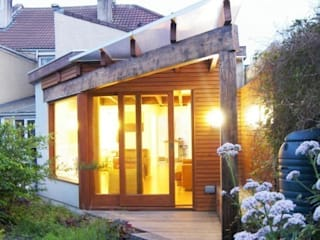 Architect's House in Bristol by DHV Architects Salones de estilo moderno de Dittrich Hudson Vasetti Architects Moderno