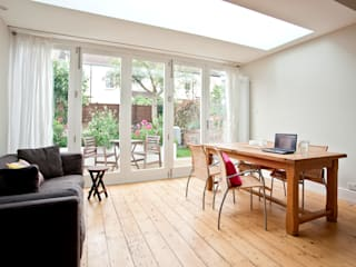 Rear extension and house remodelling in Bishopston:  Dining room by Dittrich Hudson Vasetti Architects,