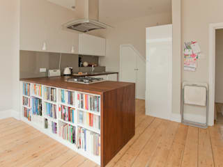 Rear extension and house remodelling in Bishopston:  Kitchen by Dittrich Hudson Vasetti Architects,