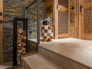Pasillos, vestíbulos y escaleras de estilo rústico de Sandrine RIVIERE Photographie Rústico