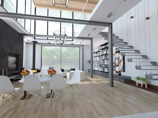 Частная вилла Гостиная в стиле модерн от Diamir Interiors Модерн