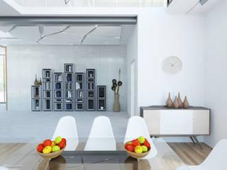 Частная вилла Столовая комната в стиле модерн от Diamir Interiors Модерн