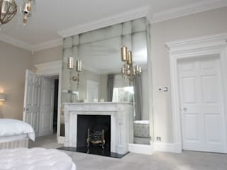Bedrooms & Dressingrooms Cuartos de estilo moderno de Mirrorworks, The Antique Mirror Glass Company Moderno
