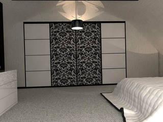 Интерьер спальни на мансардном этаже:  в . Автор – Murat Sabekov