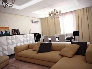 Интерьер 3-х комнатной квартиры в ЖК «ADF Plaza»:  в . Автор – Murat Sabekov