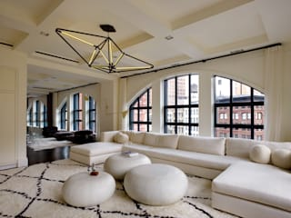 Franklin Street, New York:  Living room by studioMDA