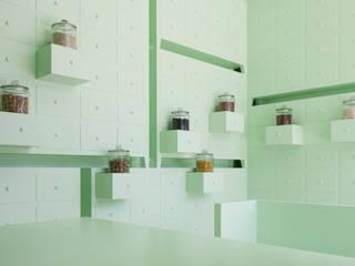 SUMIYOSHIDO kampo lounge, clinic for acupuncture and moxibustion: id inc..が手掛けたオフィススペース&店です。,ミニマル