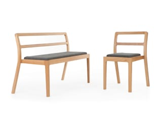 Long Eaton Stacking Chair & Bench: scandinavian  by Assemblyroom, Scandinavian
