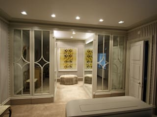 Bedrooms & Dressingrooms Ruang Ganti Modern Oleh Mirrorworks, The Antique Mirror Glass Company Modern