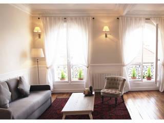 Appartement Montmartre Paris Salon moderne par BMAD-architecture Moderne