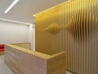 Onde sonore Negozi & Locali commerciali in stile minimalista di ministudio architetti Minimalista