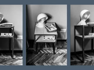 IW0115 comodini industrial style:  in stile industriale di cristina leone architetto, Industrial